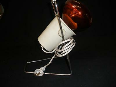 Retro Philips Red Heat Lamp Made In Holland
