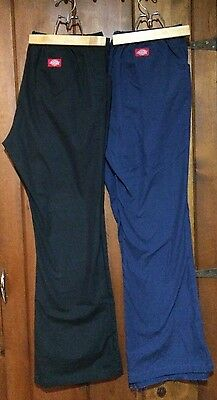 Lot of 2 DICKIES SCRUBS pants bottoms Womens size Large Tall