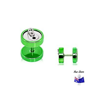 1pc Green Soda Can Fake Plug NEW AUS Cheater, Earring