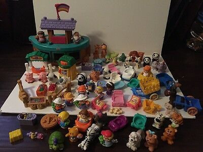 Huge Lot Fisher Price Little People Noah's Ark Zoo Farm Animals Carts Specialty