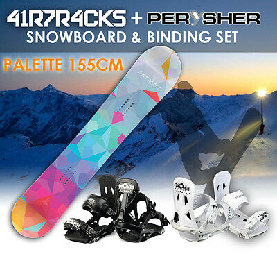 AIRTRACKS Snowboard 155cm & PERYSHER Bindings Set - PALETTE SNOWBOARD