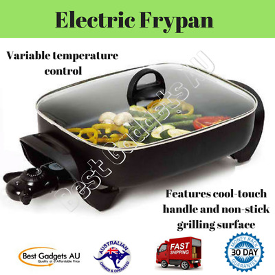 Non-stick Fry Pan Cookware Large Skillet Deep Sides Frypan Banquet Electric Home