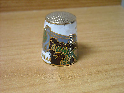 Great Wall Of China Cloisonne Thimble