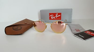 Ray-Ban Round Retro Copper (Pink) Flash/Gold Frame Sunglasses- RB3447 112/Z2