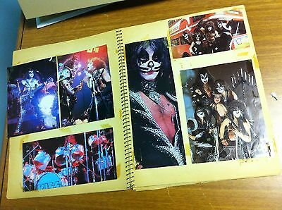 Vintage 1970's Kiss Childhood Scrapbook 38 Pages Articles Photos Posters Nice