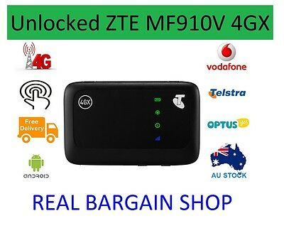 Unlocked Telstra Zte Mf910V 4Gx Pocket Wifi Optus/vodafone/aldi/boost/lyca/tpg
