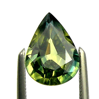 1.38 carat Pear Green/Yellow/Blue Natural Australian Fancy Parti Sapphire, PPS12