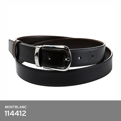 Montblanc 114412 Classic Line Belt Reversible Black Brown Leather