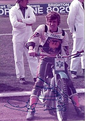 Signed Speedway Photo. Colin Richardson (Eastbourne)