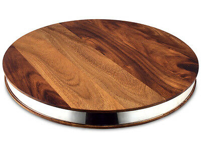 NEW Ironwood Gourmet Round Chopping Board with Steel Band