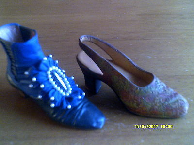 2 JUST THE RIGHT SHOE- COLLECTIBLE - BY RAINE Autumn/Victorian Ankle Boot