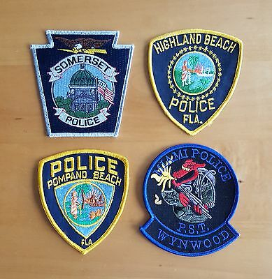 USA - 4 x Different Police Patches #20