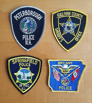 USA - 4 x Different Police Patches #22