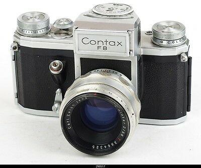 Camera Contax FB With  lens Zeiss Biotar 2/58mm Red T