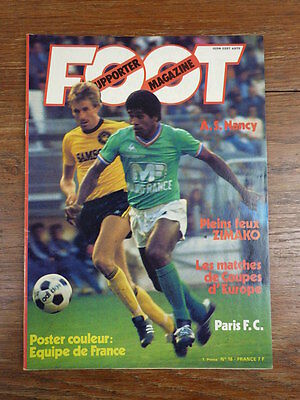 Football Revue FOOT SUPPORTER MAGAZINE No 16 (1977) COMPLET AVEC POSTER rare
