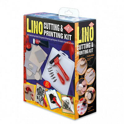 Essdee Lino Cutting & Printing Kit 22Pcs Set - Create Stamps & Prints