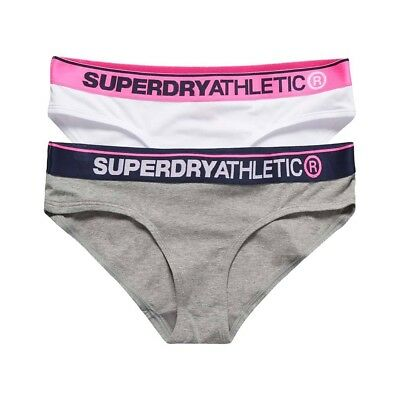 Shorty Superdry Athletic Brief Double Pack Grey/wt