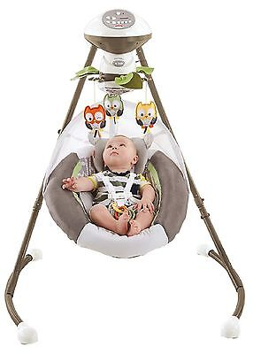 Fisher-Price My Little Snugabear Cradle 'N Swing Brown with White