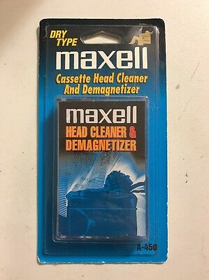 MAXELL Audio Cassette Head Cleaner and Demagnetizer Dry Type A-450 Brand