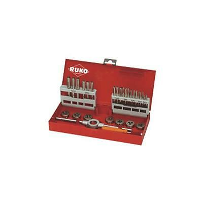 Ruko Thread Cutting Set 1 and 2 in Steel Case 31 Piece