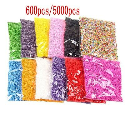 Mini Styrofoam Filler Foam Beads Balls Assorted Colors Polystyrene Crafts New