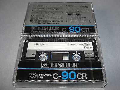 Audio Cassette Tape Fisher C-90 Chrome Dioxide Rare Japan ..10 Pcs New Sealed