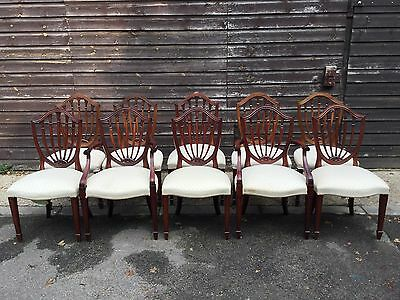 Set Of 10 Beautiful George Hepplewhite Style Chairs Pro French Polished.