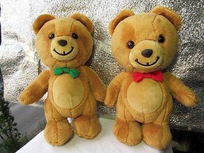 GUND LOT OF 2 - Limited Edition Kraft Peanut Butter Bears Green:Red Bow Ties