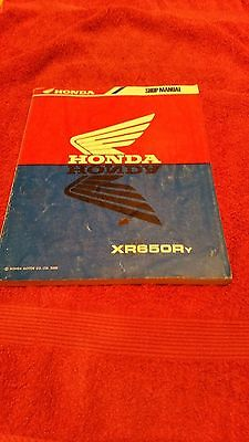 Genuine Honda XR650Y model workshop manual