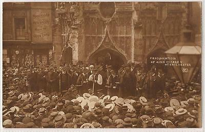 Postcard (W.P Marsh & Son Chichester)Proclamation of King George V at Chichester