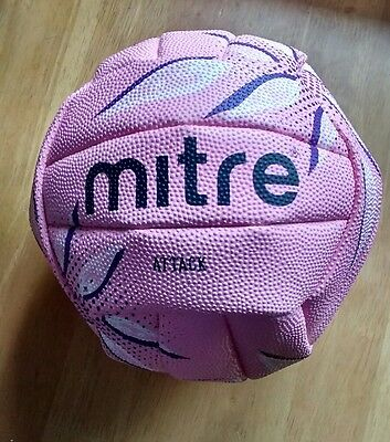 BRAND NEW Mitre Attack Netball - Size 5, Pink
