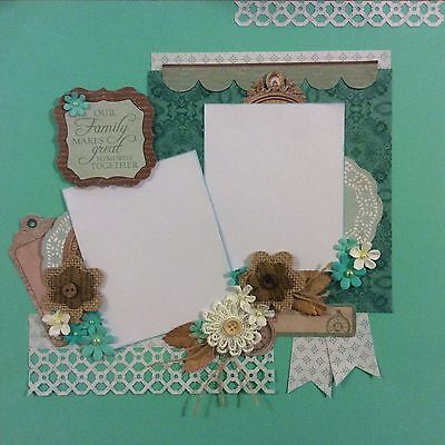 handmade scrapbook page 12 X 12 Great Family Memories Themed Layout