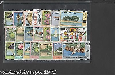 Anguilla 1980 Set Mint Cat £30.00