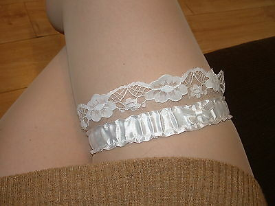 My Pretty White Lace Effect Garter with Nice Lace pattern