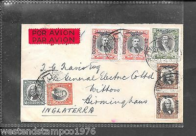 CHILE 1956? COVER TO UK WITH VARIOUS ADHESIVES . WILLIAMSON, BALFOUR & Co