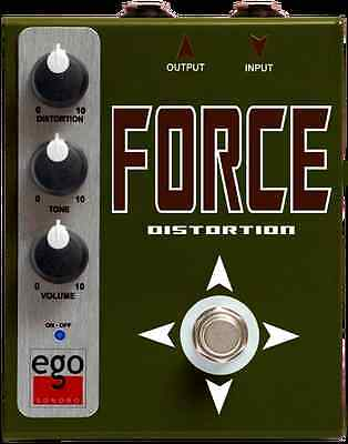 Ego Sonoro Force Distortion Guitar Pedal B-Stock Vox Tube Screamer Mooer