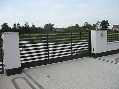 Contemporary iron handmade sliding cantilever driveway gates **highest quality**