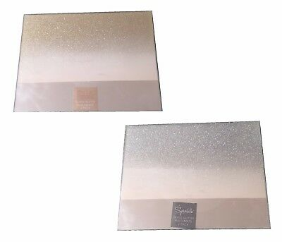 Home Decor Mirrored Glitter Gradient Sparkle Table Placemats Set of 2