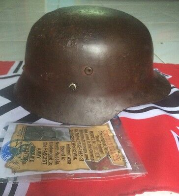 Original Amazing Rare Quality WW 2 German M-38 Helmet with Liner and Certificate
