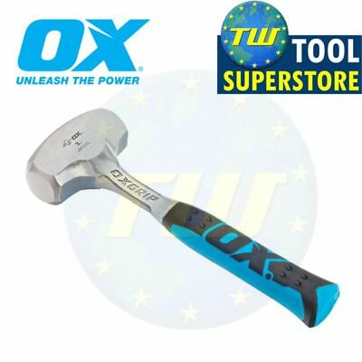 OX Tools 3lb Club Lump Hammer Hardened Steel Face 1-Piece Solid Forged P082703