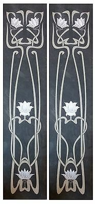 Victorian tiles Fireplace tiles Handpainted Feature Slate Panel