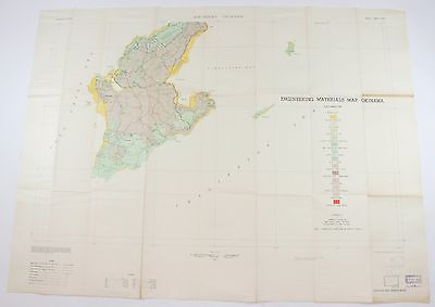 Engineering Materials Southern Okinawa Japan Vintage USGS Topographic Map