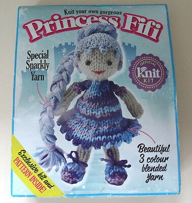 LET'S KNIT YOUR OWN Princess Fifi KIT Plush Cuddly Toy doll Knitting yarn blend
