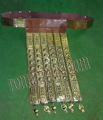 ROMAN LEGION BRASS & LEATHER APRON  ARMOR  BELT TROZAN Free Bracelet