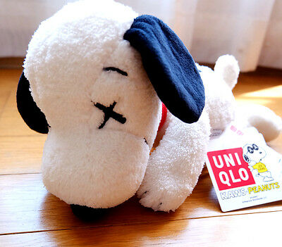 F/S NEW!! Kaws x Uniqlo Peanuts Snoopy limited Plush Doll Small Size from Japan