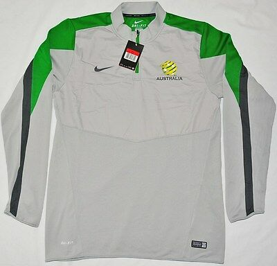 BNWT - Australia Socceroos Jersey Authentic Training Top Football Jacket - Large