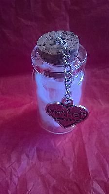 Angels feathers in a bottle, Guardian Angel Mother Rememberance, loss death