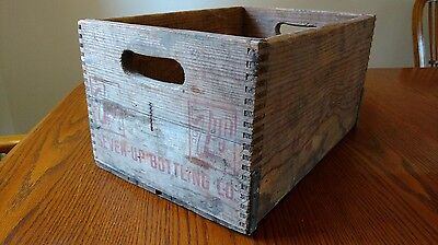 "Vintage 7up Wooden Crate, 16""w x 11""d x 8""h"