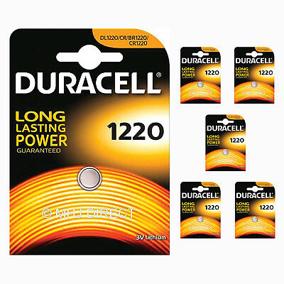 6 x Genuine Duracell CR1220 DL1220 Lithium 3v Batteries Coin Cell Use By 2026
