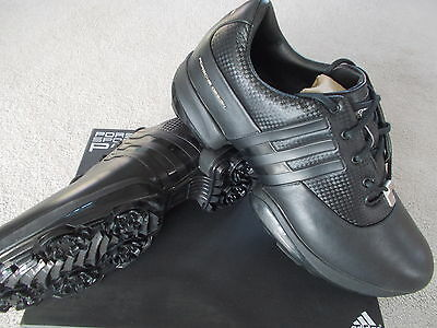 Mens Adidas Golf Shoes Rare 'porsche Golf Ii' Uk 8 Eu 42 Black 021792
